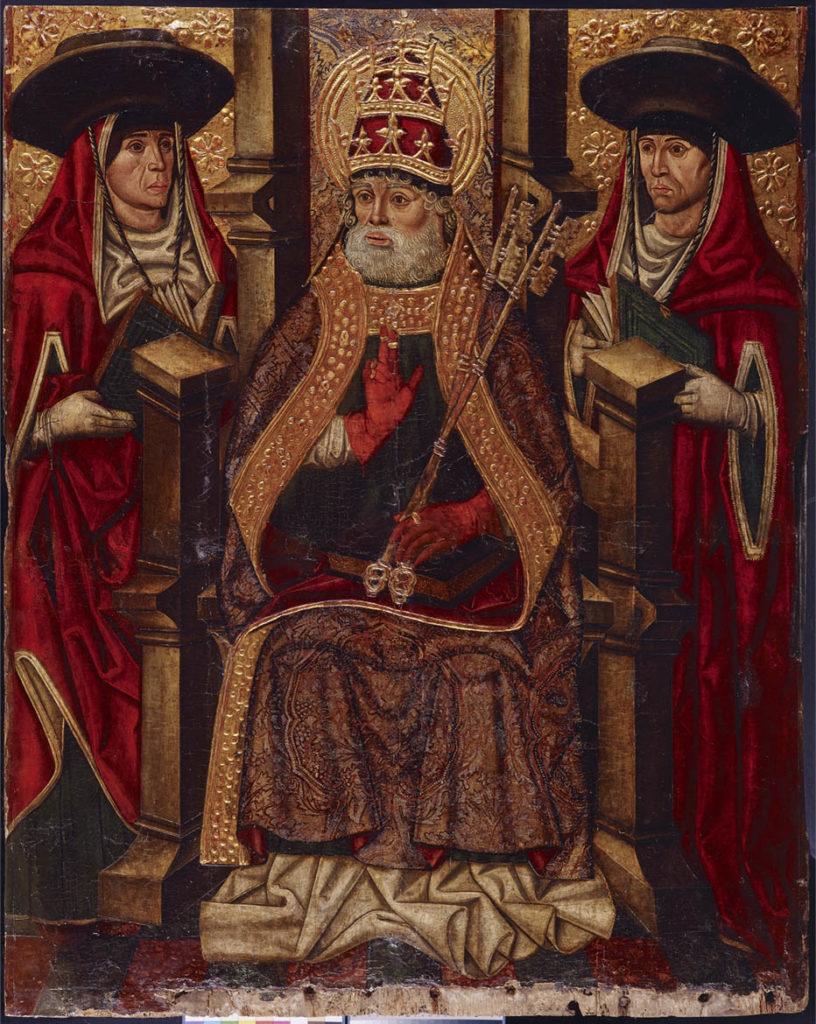 amigos-museo-bellas-artes-asturias-San-Pedro-entronizado-entre-dos-cardenales
