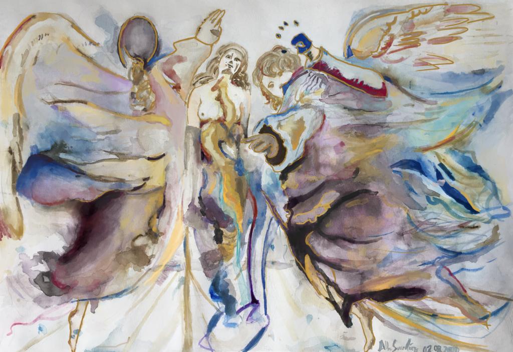 amigos-museo-bellas-artes-asturias-concurso-jovenes-Alba- Suárez-Metamorfosis-de-ángeles-en-mariposa